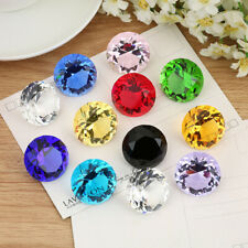 12Colors Crystal Paperweight Cut Glass Giant Diamond Shape Jewel Decor Gift 30mm