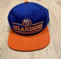 VTG Starter New York Islanders Hat NHL Snapback Blue Orange White Hockey VTG 90s