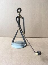 Vintage GOLFER NUTS, BOLTS & SQUARE NAILS METAL ART SCULPTURE, Swinging Club