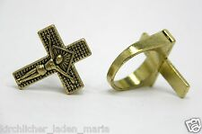 Orthodoxe Ring Православный перстень Спаси и сохрани цвет золотой бронзы
