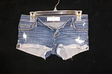 "Gilly Hicks Sydney Distressed Destroyed Mini Short Booty Shorts Size 0 29"" Waist"