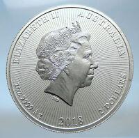 2018 AUSTRALIA Elizabeth II KOALAS Antique Silver 2 OZ $2 Bullion Coin i73863
