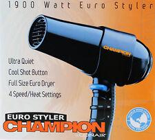 Champion Euro Styler by Conair. 1900 Watt Euro Styler, Ultra Quiet Hair Dryer