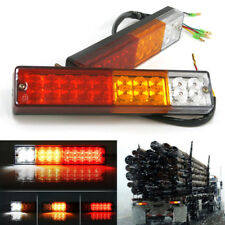 2x 20 LED Truck Trailer Rear Tail Reverse Light Stop Indicator Red-Amber-White