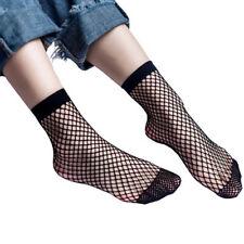 Women's Fishnet Ankle Socks Sheer Girl Fashion Sexy Stocking Hosiery Mesh Black
