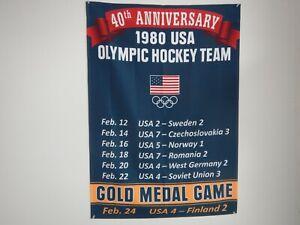 1980 USA OLYMPIC HOCKEY TEAM 40TH ANNIVERSARY BANNER