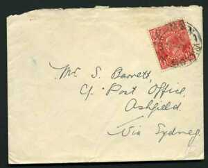 Australia 1929 1 1/2d Red KGV Head on Cover - WILLOW TREE NSW Cancel