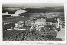 19371 HAHN Foto AK Luftbild Wermsdorf Schloss See 1945 EF OPD DRESDEN 6 Pfennig