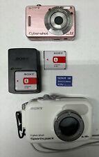 Sony Cybershot Digital Camera Bundle  Bonus Waterproof Sport Pack  EUC