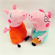 2PCS 12 INCH PEPPA PIG (DADDY & MUMMY PIG) PLUSH KID BABY SOFT TOY STUFFED DOLL