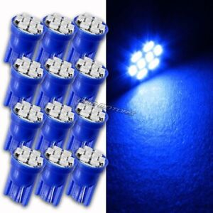 12pc Blue 8 LED Replacement T10 Wedge Light Bulb 194 2450 2652 2921 For NISSAN