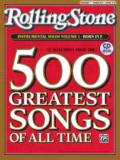 ROLLING STONE-500 GREATEST SONGS OF ALL TIME-FRENCH HORN VOL.1 MUSIC BOOK/CD-NEW