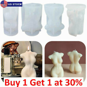 Female Perfume Candle Moulds Silicone Human Body Candles Wax Making Soap Molds