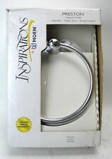 "Inspirations by Moen Preston Collection Easy Care Chrome 6"" Towel Ring Rack(A1)"
