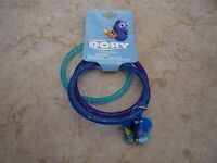 Disney Finding Dory 3 Bracelet Set Brand New Bangle w/ Charm Blue Purple Glitter