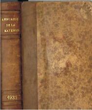 ANNUAIRE DE LA MAYENNE 1935 imprimerie LELIEVRE LAVAL