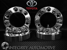 4 WHEEL SPACERS 6X5.5 | 1.25 INCH THICK | 12X1.5 STUDS | FITS ALL 6 LUG TOYOTA