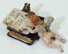 Antica ORIGINALE Bronzo di Vienna-Amor scrive lettera d'amore (barattolo per aprire)
