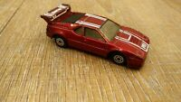 Vintage MC Toy Diecast Car Red BMW M1 Sports Car Procar Championship Toy Model