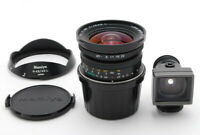 【TOP MINT + Hood View Finder 】 Mamiya N 43mm f4.5 L Lens for 7 II From JAPAN b56