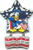Disney Pin 46972 WDW -Independence Day 2006 Donald Duck Americana Star LE