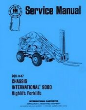 International 9000 Highlift Forklift Chassis Specifications Service Manual