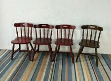 Set of 4 Wooden Pub Farmhouse Style Dining Chairs