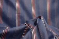 striped multi very dark navy blue background clothing fabric - metre