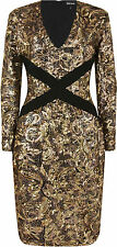 Paisley Pattern Viscose Long Sleeve Dresses Midi