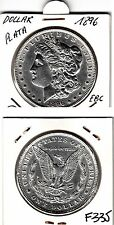 F335 MONEDA EEUU 1 DOLAR 1896 PLATA EBC