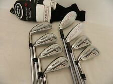 NEW LH ADAMS IDEA SUPER S IRON SET 3H-PW STEEL & GRAPHITE STIFF IRONS 3-PW