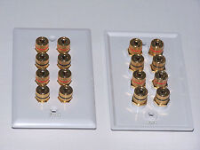 2 Pk. Speaker Wall Plate for 7.1 - 8 posts on each