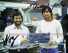 STEVEN JOBS AND STEVE WOZNIAK SIGNED AUTOGRAPHED 8x10 RP PHOTO APPLE COMPUTER