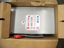 CUTLER HAMMER Heavy Duty Safety Switch 60 amp, 600 volt DH262UGK, NIB