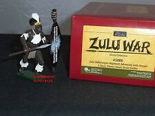 BRITAINS 45006 ZULU ADVANCING WITH ASSEGAI RORKES DRIFT METAL TOY SOLDIER FIGURE