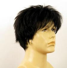 Perruque homme 100% cheveux naturel noir ref FLORENT 1b