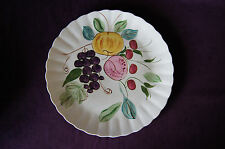 "Blue Ridge Southern Potteries Fruit Punch large round platter chop plate 11-3/4"""