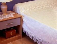 AUTHENTIC FRENCH PROVINCIAL GUIPURE LACE SINGLE BEDSPREAD