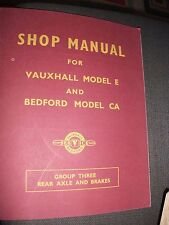 shop manual for vauxhall model e and bedford model ca 1952
