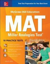 MCGRAW-HILL EDUCATION MAT MILLER ANALOGIES TEST - ZAHLER, KATHY A. - NEW PAPERBA