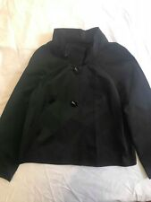 VERONIKA MAINE Womens Size 10 Suit Blazer Dress Jacket Charcoal Black Work