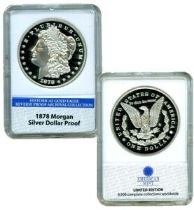 1878 MORGAN SILVER DOLLAR COMMEMORATIVE COIN PROOF LUCKY MONEY $59.95