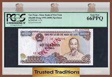 "TT PK 117s 1994 VIET NAM 100000 DONG ""HO CHI MINH"" ""SPECIMEN"" PCGS 66 PPQ GEM!"