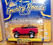 GreenLight 1974 Ford Bronco Country Roads #29810 New Burgundy jeep 1:64