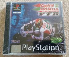 PS1 Neuf Blister . Full Fr . rare / Castrol Honda VTR