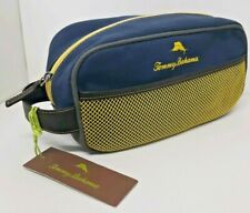 Tommy Bahama Cosmetic Bag New Dolphin Navy Blue Yellow Makeup Travel Mesh Pocket