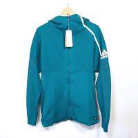 $150 Adidas x PARLEY Mens ZNE Primeknit Hoodie Track Jacket Teal  DP0285 Large
