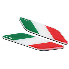 2x 3D Aluminum Auto Decal Italy Italian Flag Car Decor Sticker Emblem Badge Logo