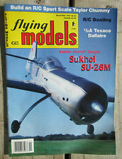 Flying Models Magazine November 1991 R/C Planes Boats Cars Sukhoi SU-26M
