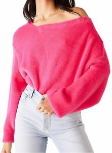 FREE PEOPLE Star Sign Pullover Jumper PINK Super Soft rrp $128 S UK 8-10 NEW